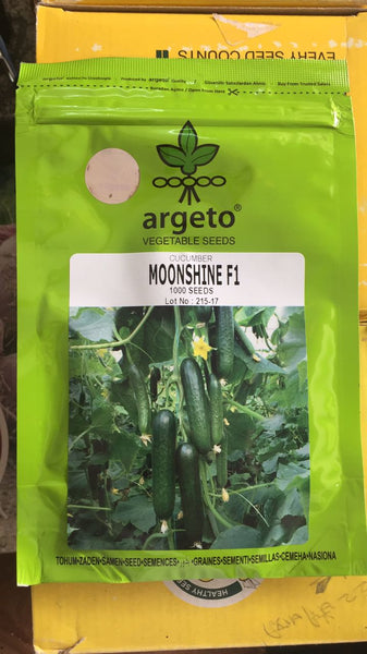 Moonshine F1 Cucumber for Polyhouse (Argeto Seeds) - Farmers Stop