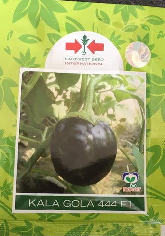 Kala Gola/काला गोला 444 F1 Brinjal (East West Seeds) - Farmers Stop