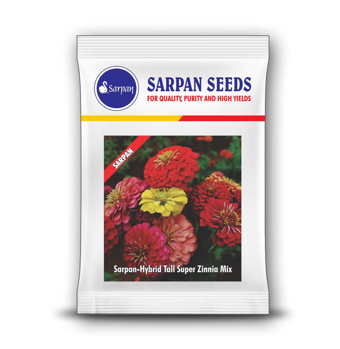Super Zinnia Tall Mix Hybrid (Sarpan Seeds)