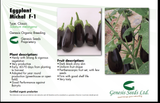 Michal/माइकल Parthenocarpic Eggplant (Genesis Seeds, Isreal)  - No Cash on Delivery - Farmers Stop
