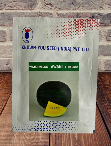 Awani/अवनि  Hybrid Watermelon Yellow Flesh (Known You Seeds)