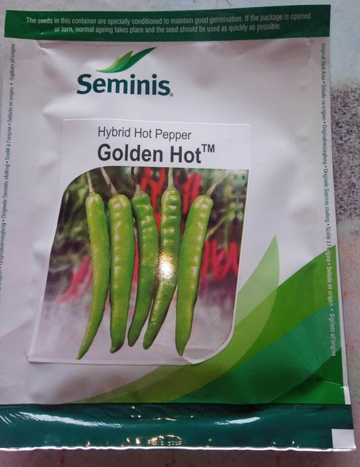 Golden hot/गोल्डन हॉट F1 Hybrid Hot Pepper (Seminis) - Farmers Stop