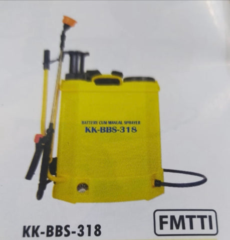 Knapsack Sprayer (Manual Cum Battery) 18 L KK-BBS-318 (KisanKraft®)