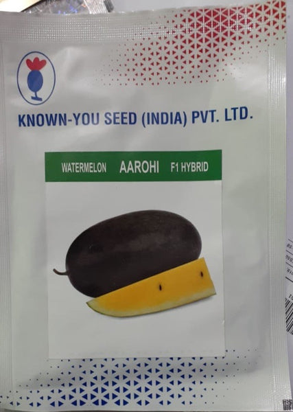 Aarohi/आरोही Hybrid Watermelon Yellow Flesh (Known You Seeds) - Farmers Stop