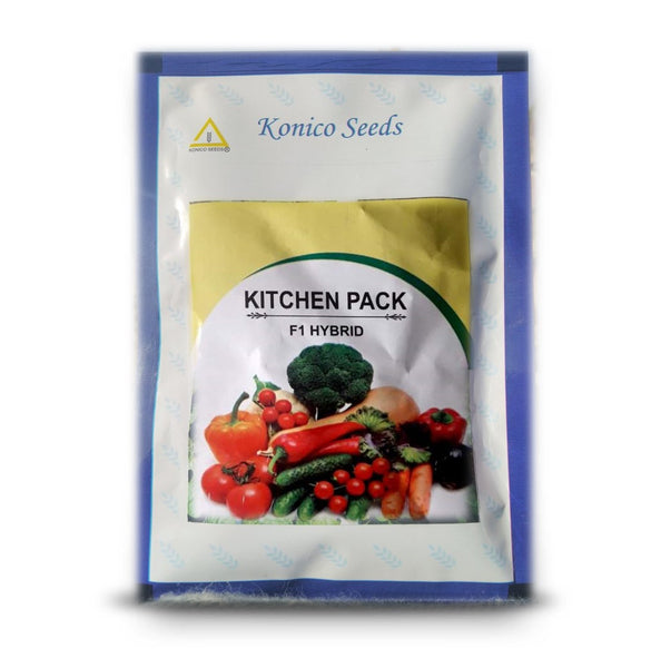 Kitchen Garden Hybrid F1 Seeds Pack (Konico Seeds) - Farmers Stop