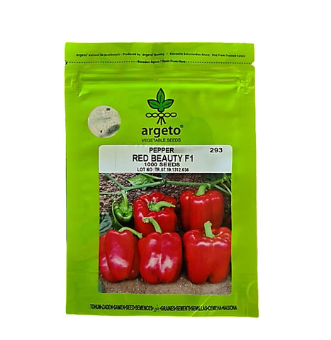 Red Beauty F1 Hybrid Pepper for Polyhouse (Argeto Seeds)