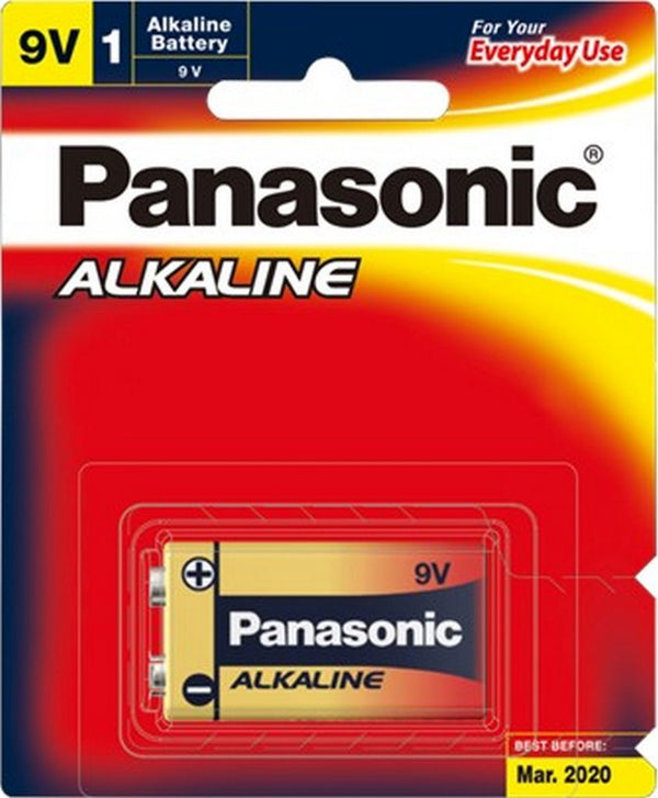 Panasonic Alkaline 9v battery 6LR61T/1B