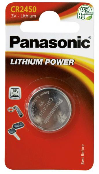 Panasonic 3v CR-2450 battery 620mAh
