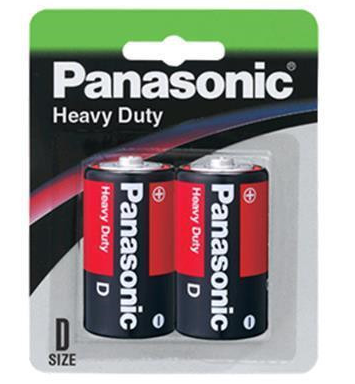Panasonic Heavy Duty Size D battery R20DP/2B