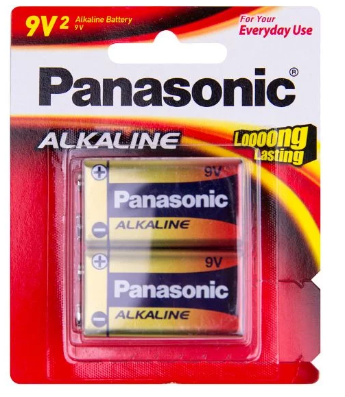 Panasonic Alkaline 9v battery 6LR61T/2B