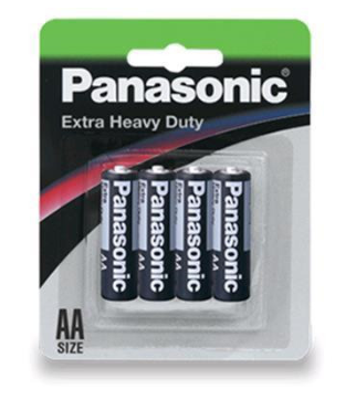 Panasonic Extra Heavy Duty AA battery R6NP/4B