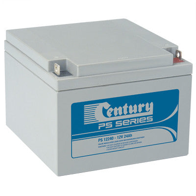 Century 12v 24Ah SLA battery for UPS Systems, Fire Alarms, Camping and Emergency lighting.