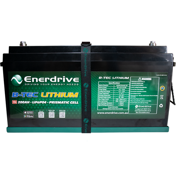 Enerdrive B-TEC 12V 200Ah G2 Lithium Battery