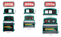 Power Inverter 12v 400w ENERDRIVE EN1104S