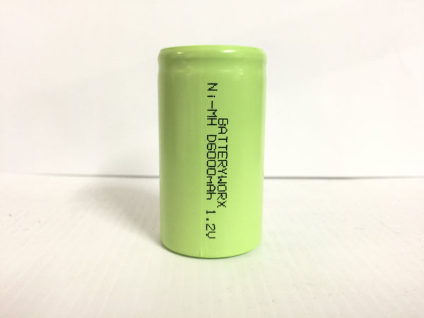 D size Battery Cell, 6000 mAh, Ni-Mh