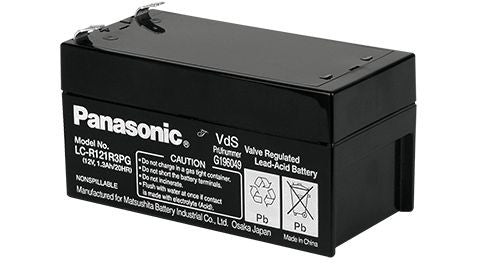 Panasonic 12v 1.3Ah SLA battery LC-R121R3P