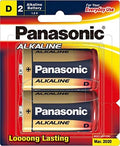 Panasonic Alkaline battery D size 2 Pack LR20T/2B