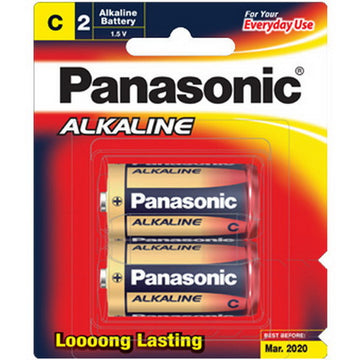 Panasonic Alkaline battery C size 2 Pack LR14T/2B