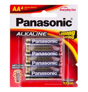 Panasonic Alkaline AA battery 4 Pack