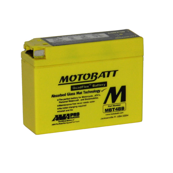 Motobatt Motorbike battery 12v 2.5Ah  MBT4BB
