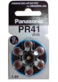 Panasonic Hearing Aid Zinc Air Battery 1.4v PR41