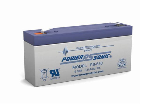 PowerSonic 6v 3.5Ah SLA battery