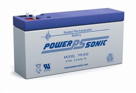PowerSonic 8v 3.2Ah SLA battery