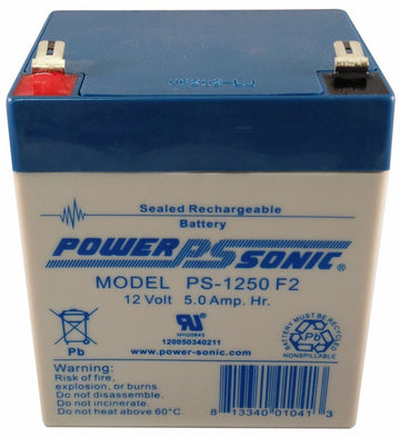 PowerSonic 12v 5.0Ah F2 SLA battery