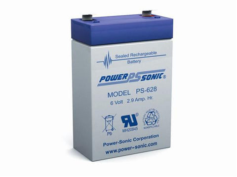 PowerSonic 6v 2.9Ah SLA battery