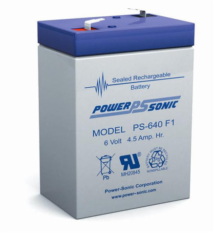 PowerSonic 6v 4.5Ah SLA battery