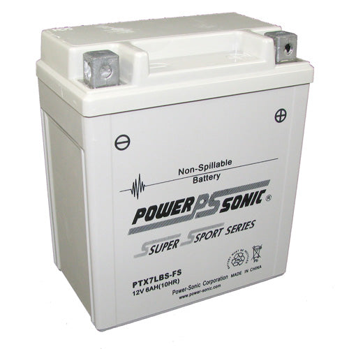 Motorbike battery 12v 6Ah  PTX7LBS-FS or YTX7L-BS