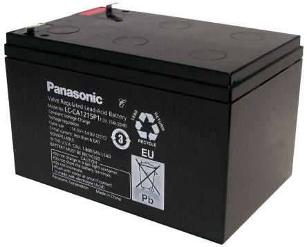 Panasonic Deep Cycle Battery 12v 15Ah LC-CA1215P1