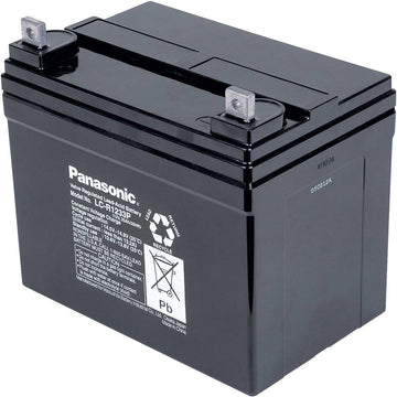 2 x Panasonic Deep Cycle Mobility Scooters battery 12v 33Ah LC-R1233P