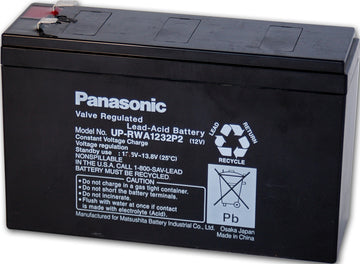 Panasonic 12v SLA Battery F1 & F2 Terminals