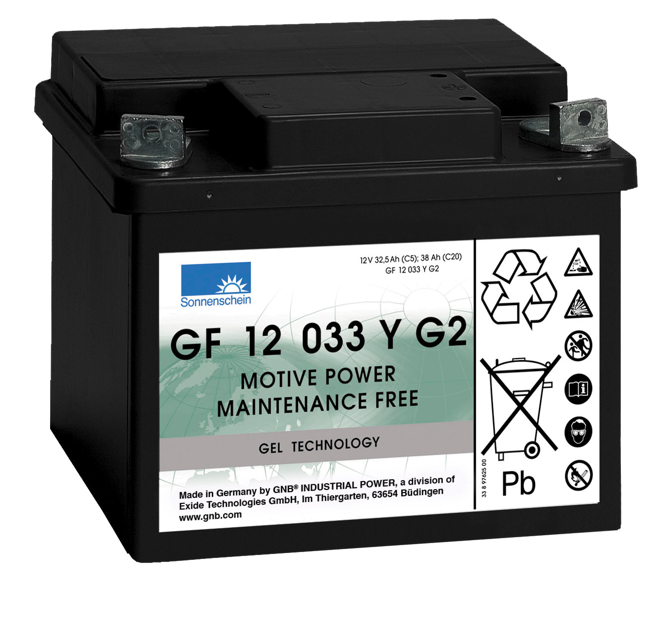 Deep Cycle battery 12v 38Ah