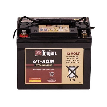 Trojan Deep Cycle battery 12v 33Ah AGM