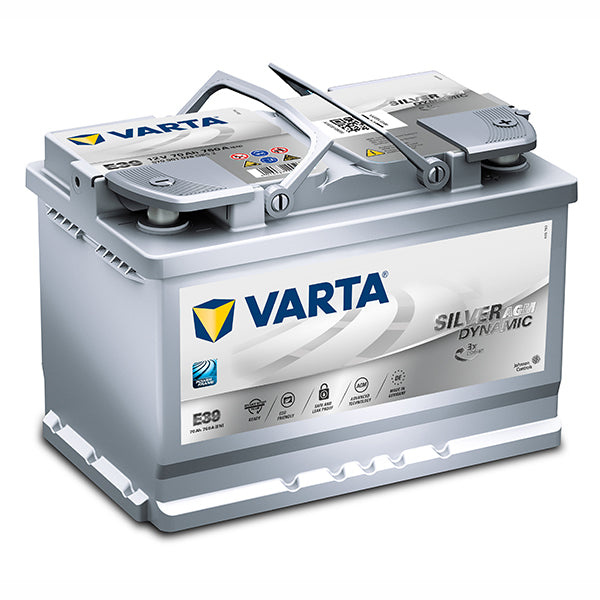 Varta DIN66L E39 AGM battery 760cca