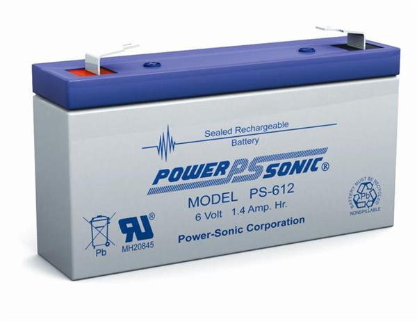 PowerSonic 6v 1.4h SLA battery