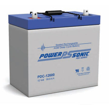 Deep Cycle Battery PowerSonic 12v 60Ah AGM
