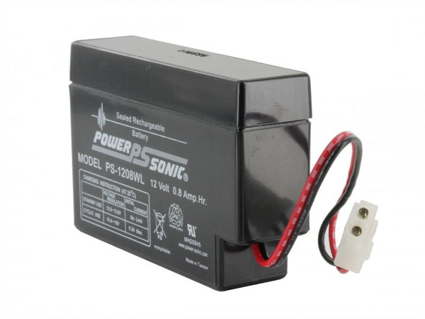 PowerSonic 12v 0.8Ah SLA battery PS-1208