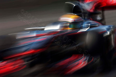 Formula 1 Print - Lewis Hamilton Autodromo Jose Carlos Pace 2010 - Legends Of The Sport