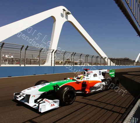 Formula 1 Print - Paul di Resta Spain Valencia Street Circuit 2010 - Legends Of The Sport