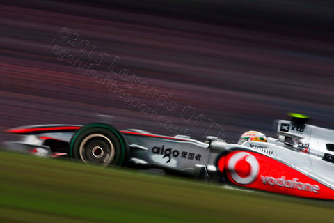 Formula 1 Print - Lewis Hamilton Germany Hockenheimring 2010 - Legends Of The Sport