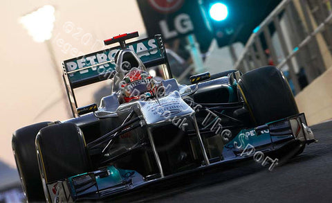 Formula 1 Print - Michael Schumacher United Arab Emirates Yas Marina Circuit 2011 - Legends Of The Sport