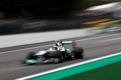 Formula 1 Print - Nico Rosberg Spa-Francorchamps 2011 - Legends Of The Sport