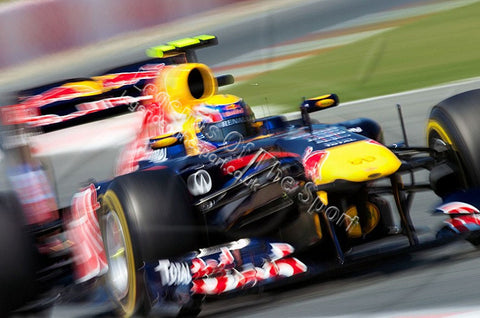 Formula 1 Print - British GP Mark Webber AUS Red Bull Racing - Legends Of The Sport