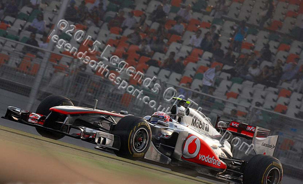 Formula 1 Print - Jenson Button India Buddh International Circuit 2011 - Legends Of The Sport