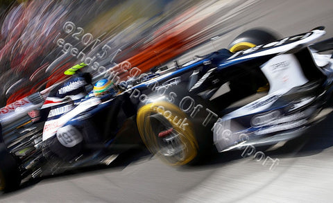 Formula 1 Print 2012 - Bruno Senna racing for Williams-Renault at the 2012 Monaco Grand Prix - Legends Of The Sport