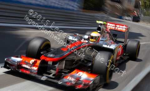 Formula 1 Print - Lewis Hamilton Circuit de Monaco 2012 - Legends Of The Sport