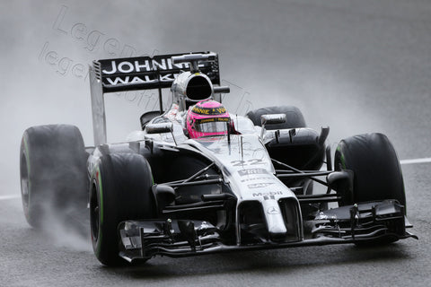 Limited Edition Formula 1 Print - Jenson Button Silverstone Qualifying 2014 - Legends Of The Sport